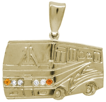 Yellow gold Motor home